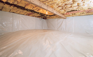 Crawl Space Moisture Barrier After in Maui