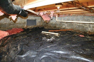 Crawl Space Repair Before in Oahu
