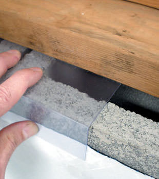 Block wall clear covering for wet crawl spaces in
