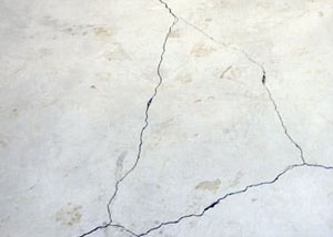 cracks in a slab floor consistent with slab heave in .